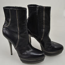 Gucci Stivale Tronchetto Woman Ankle Boots 38.5 Black Leather