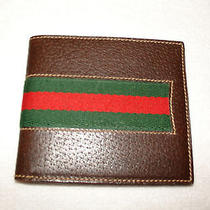 Gucci Striped Leather Wallet (Vintage) Photo