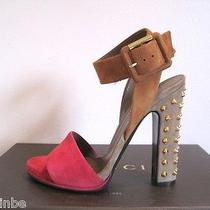 Gucci Stunning Madison Platform High Ankle Strap Studded Sandals 37.5 7.5 795 Photo