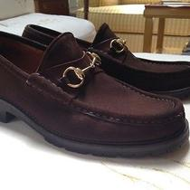 Gucci Suede Horsebit Loafers Photo