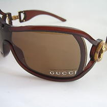 Gucci Sunglasses Gg 3035 Rem Cz Brown Visor Bamboo Hinge Genuine Bnwt  Photo