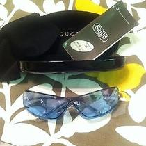 Gucci Sunglasses Made in Italy Blue Original Unisex Fashion Style New Case Lente Photo