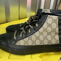 Gucci Supreme Gg Black Beige Canvas Leather Sneakers 830 Photo