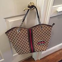 Gucci Tan Brown Handbag  Photo