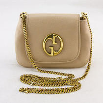 Gucci Tan Leather 1973 Archive Crossbody Blush Bag With Chain Photo