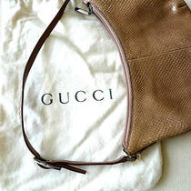 Gucci Tan Leather Handbag/purse W/cloth Bag Super Clean Photo