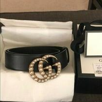 Gucci Thin Pearl Double G Belt (Size 00-0) 70cm Photo