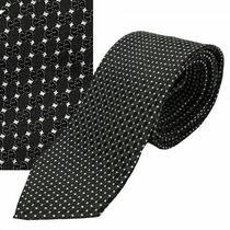 Gucci Tie Gg Logo Black Woven Silk Pungol New Auth Photo