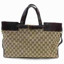 Gucci Tote Bag  Light Brown Gg Canvas 1501562 Photo