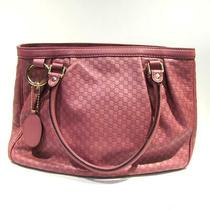 Gucci Tote Hand Bag 296835 Leather Pink Used Ladies Photo