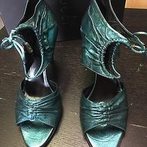 Gucci Turquoise Metalic Heels Photo