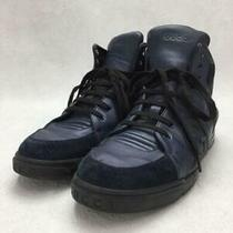 Gucci  uk7.5 Nvy Leather 363731 Size uk7.5 Navy Sneaker 2597 From Japan Photo