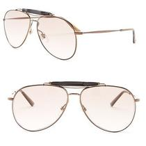 Gucci Unisex Metal Aviator Sunglasses Colorcioccolato  Gg2235s Msrp 525.00 Photo