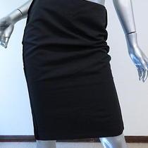 Gucci Velvet-Trimmed Pencil Skirt Black Size 40 Gently Worn Photo
