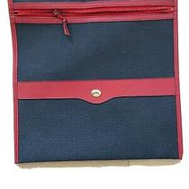 Gucci Vintage Auth Navy Canvas Gg Logo Zip Clutch Pouch Cosmetics Toiletry Case Photo