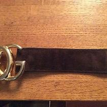 Gucci Vintage Belt  Brown Suede Photo