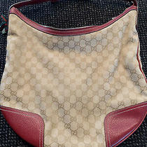 Gucci Vintage Canvas Hobo Handbag Photo