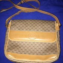 Gucci Vintage Crossbody Bag Shoulder Gg Monogram Purse Photo