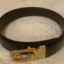 Gucci Vintage Gg Logo Belt Waist Black Photo