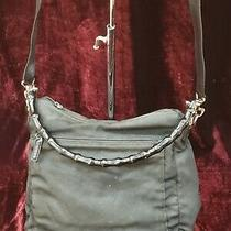 Gucci Vintage Solid Black Canvas Bamboo Handle Shoulder Bag Purse Tote Photo