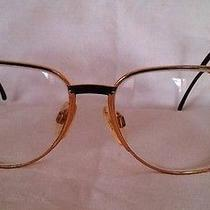 Gucci Vintage Women's Eye Glasses Frames Gold Plated Authentic Photo