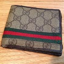 Gucci Wallet Mens 100% Real Used Photo