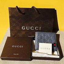 Gucci Wallet Rubber Guccissima Leather Bi-Fold Wallet Photo
