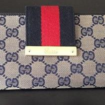 Gucci Web Metal Bar Continental Wallet Photo