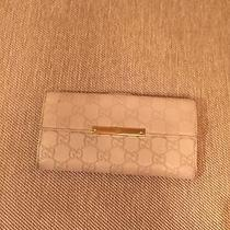 Gucci White Guccissima Leather Wallet  Photo
