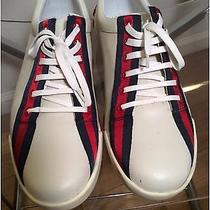 Gucci White Leather Sneakers / Tennis Shoes 9 D Photo