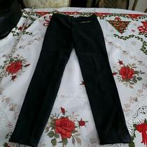 Gucci Womens Black Equestrian Pants Skinny Vintage Made in Italy Sz 40 Photo