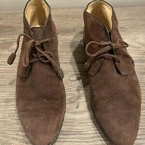 Gucci Women's Brown Suede Desert Boots Size 38 1/2 B Photo