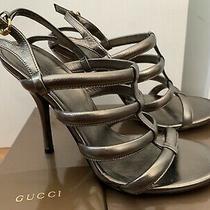 Gucciwomen's Nappa Silk Heels. Sz. 37.5 Photo