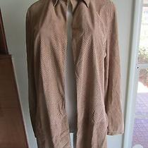 Gucci Women's Tan Suede Perforated Buttonless Shirt-Nwot-Sz 44 or Us 8-Awesome Photo
