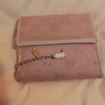 Gucci Women's Wallet Pink With White Leather and Beautiful Gucci Charms  Photo