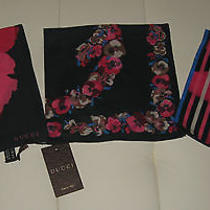 Gucci Womens Avila Scarf Set of 3 Brand New in Box W/ Tags 100% Authentic Photo