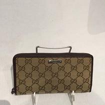 Gucci Zip Monogram Wallet Photo