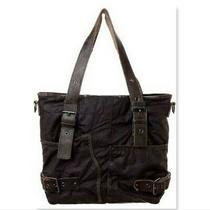 Guerilla De Luxe by Liebskind Shoulder Bag Purple Fabric Leather Hobo Purse Photo