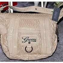 Guess 100% Authentic Gorgeous Sexy  Lacquered Purse Bag  Nwt Beige  110 Photo