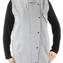 Guess 118 Womens New 1208 Gray Pocketed Zippered Sleeveless Vest Top L Bb Photo
