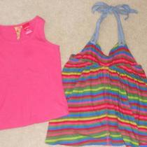 Guess 2 Piece Tank & Halter Top Striped Set Size 5 6 Photo