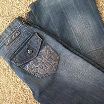 Guess 32 X 31 Vintage Wyatt Wide Boot Cut Zipper Fly Great Condition  Photo