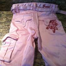 Guess 4t Pink Sateen Pants Photo