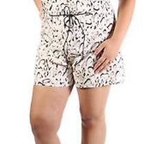 Guess 79 Womens 1409 Ivory Animal Print Sleeveless Casual Romper L Bb Photo