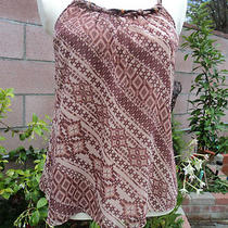 Guess Adobe Sunrise Multi Color-Brown Top New Sz   Xs--S - M -- Very Sexy Photo