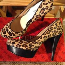 Guess ' Adriene'  Leopard Print Shoes Size 8 Mnib Stiletto Pumps Photo