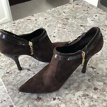 Guess Ankle Boots Brown Suede Size 9 1/2 Photo