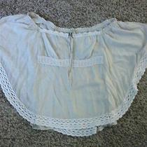 Guess Antique White Batwing Blouse Small Photo