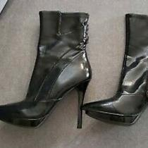 Guess Ashleigh Black Leather 4 3/4