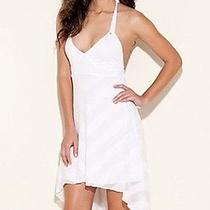 Guess Asymmetrical Hem White Dress  Nwt Photo